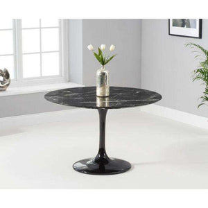 Furnish Our Home:Mark Harris Brittney 120cm Round Black Dining Table