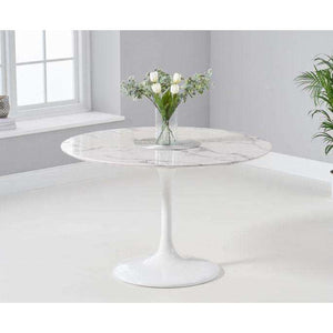 Furnish Our Home:Mark Harris Brittney 120cm Round White Dining Table