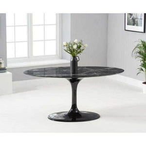 Furnish Our Home:Mark Harris Brittney 160cm Oval Black Dining Table