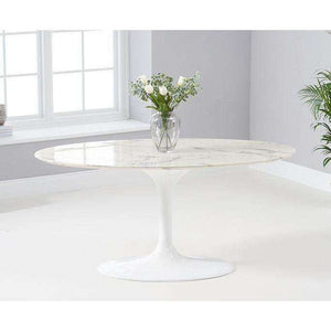 Furnish Our Home:Mark Harris Brittney 160cm Oval White Dining Table