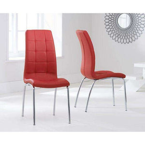 Furnish Our Home:Mark Harris California Dining Chair Red (Pair)