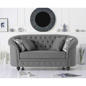 Furnish Our Home:Mark Harris Casey Grey Linen 2 Seater Sofa
