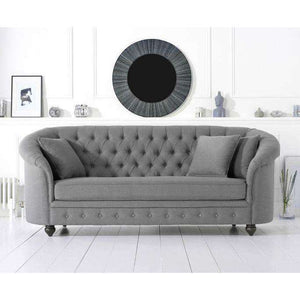 Furnish Our Home:Mark Harris Casey Grey Linen 3 Seater Sofa