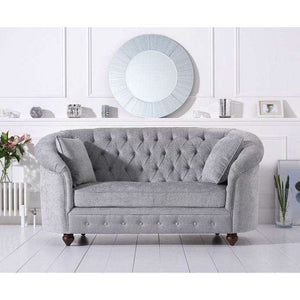 Furnish Our Home:Mark Harris Casey Grey Plush 2 Seater Sofa