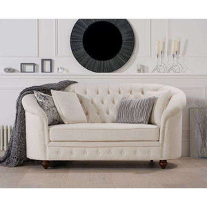 Furnish Our Home:Mark Harris Casey Ivory Linen 2 Seater Sofa