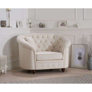 Furnish Our Home:Mark Harris Casey Ivory Linen Armchair