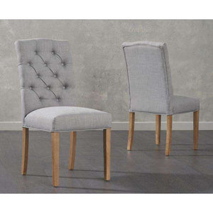 Furnish Our Home:Mark Harris Clarissa Fabric Grey Dining Chair (Pair)
