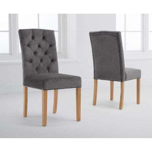 Furnish Our Home:Mark Harris Clarissa Grey Velvet Dining Chairs (Pairs)
