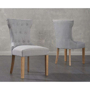 Furnish Our Home:Mark Harris Courtney Fabric Grey Dining Chair (Pair)