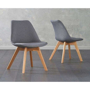 Furnish Our Home:Mark Harris Dannii Dark Grey Fabric Chair (Pair)