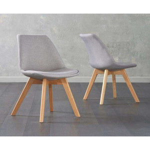 Furnish Our Home:Mark Harris Dannii Light Grey Fabric Chair (Pair)