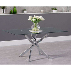 Furnish Our Home:Mark Harris Daytona 160cm Rectangular Glass Dining Table