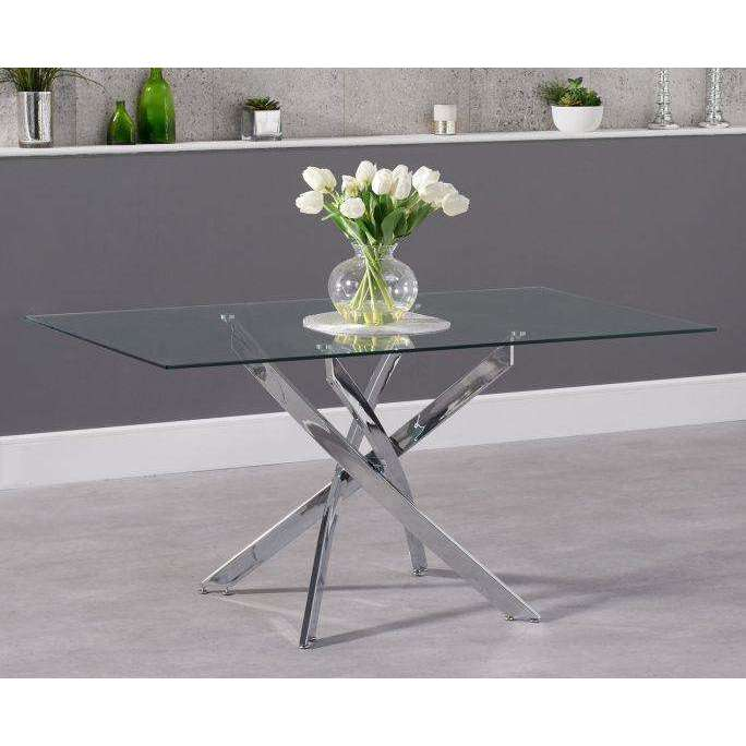 Mark Harris Daytona 160cm Rectangular Glass Dining Table