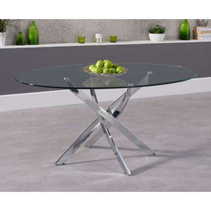 Furnish Our Home:Mark Harris Daytona 165cm Oval Glass Dining Table