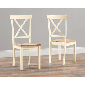 Furnish Our Home:Mark Harris Elstree Oak And Cream Dining Chair (Pair)