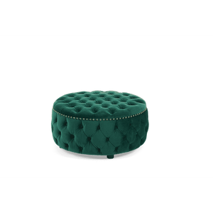 Furnish Our Home:Mark Harris Fiona Green Velvet Round Footstool