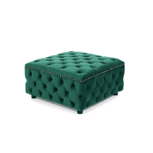 Furnish Our Home:Mark Harris Fiona Green Velvet Square Footstool
