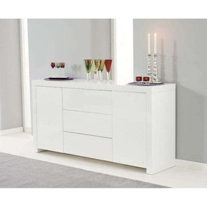 Furnish Our Home:Mark Harris Hereford 160cm White High Gloss Sideboard
