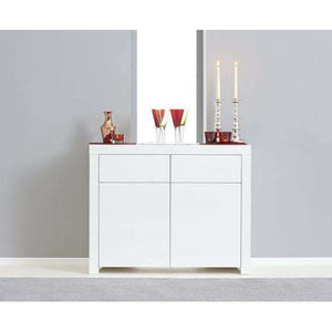 Furnish Our Home:Mark Harris Hereford 2 Door 2 Drawer White High Gloss Sideboard