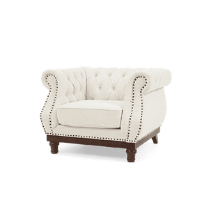 Furnish Our Home:Mark Harris Highgrove Ivory Linen Armchair