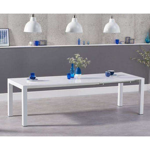 Furnish Our Home:Mark Harris Jamie Extending White High Gloss Dining Table