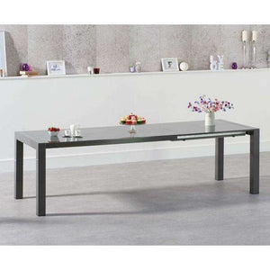 Furnish Our Home:Mark Harris Jamie Extending Dark Grey High Gloss Dining Table