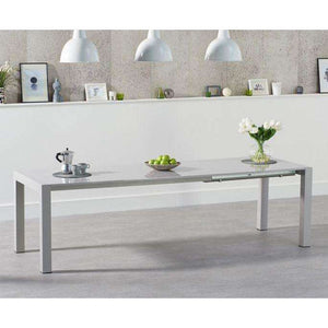 Furnish Our Home:Mark Harris Jamie Extending Light Grey High Gloss Dining Table