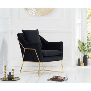 Furnish Our Home:Mark Harris Larna Black Velvet Accent Chair