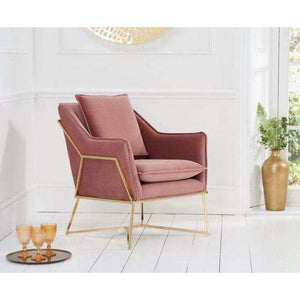 Furnish Our Home:Mark Harris Larna Blush Velvet Accent Chair