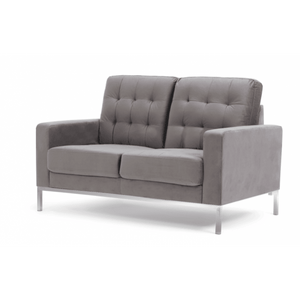 Furnish Our Home:Mark Harris Lillian Grey Velvet 2 Seater Sofa