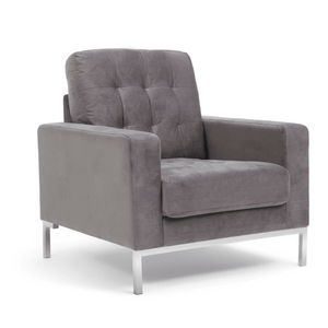 Furnish Our Home:Mark Harris Lillian Grey Velvet Armchair