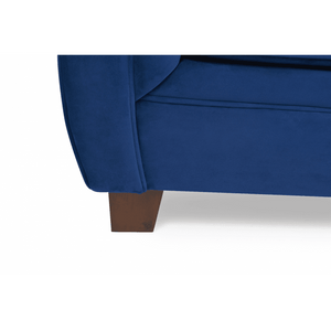 Furnish Our Home:Mark Harris Liv 3 Seater Chesterfield Fabric Sofa Blue Plush
