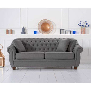 Furnish Our Home:Mark Harris Liv Grey Linen 3 Seater Sofa