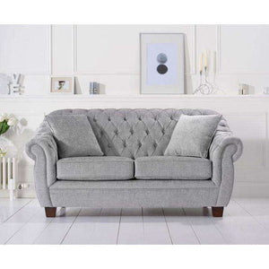 Furnish Our Home:Mark Harris Liv Grey Plush 2 Seater Sofa