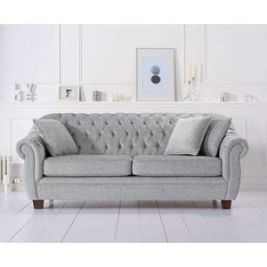 Furnish Our Home:Mark Harris Liv Grey Plush 3 Seater Sofa