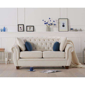 Furnish Our Home:Mark Harris Liv Ivory Linen 2 Seater Sofa