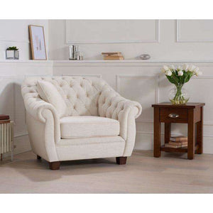 Furnish Our Home:Mark Harris Liv Ivory Linen Arm Chair