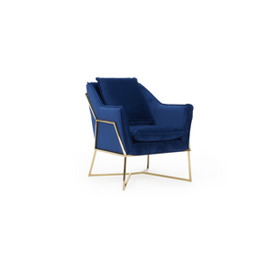 Furnish Our Home:Mark Harris Larna Accent Chair - Blue Velvet