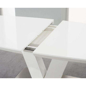 Furnish Our Home:Mark Harris Malibu White High Gloss Extending Dining Table