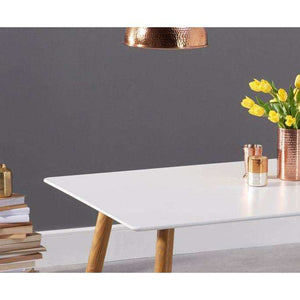 Furnish Our Home:Mark Harris Mansfield 180cm Matt White Dining Table