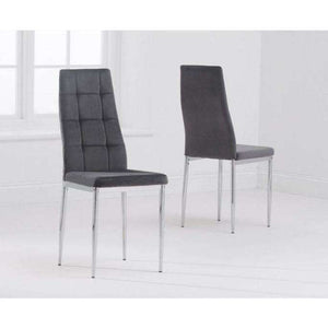 Furnish Our Home:Mark Harris Maria Grey Fabric Dining Chair (Pair)