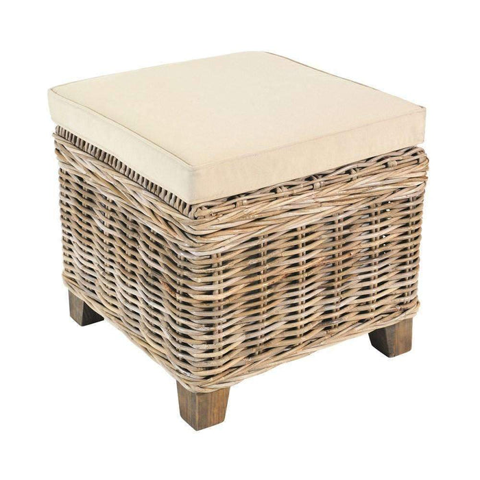 Rowico Maya Rattan - Grey Wash Small Storage Stool