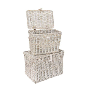 Furnish Our Home:Beco Living Mei Rattan - White Wash Log Baskets set of 2