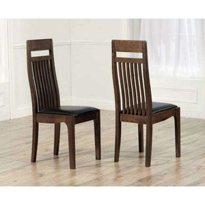 Furnish Our Home:Mark Harris Monte Carlo Dark Brown Chairs (Pair)
