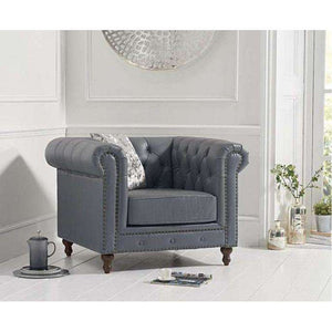 Furnish Our Home:Mark Harris Montrose Grey Leather Armchair