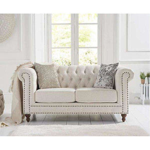 Furnish Our Home:Mark Harris Montrose Ivory Linen 2 Seater Sofa