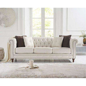 Furnish Our Home:Mark Harris Montrose Ivory Linen 3 Seater Sofa