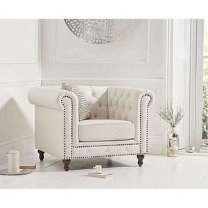Furnish Our Home:Mark Harris Montrose Ivory Linen Chair