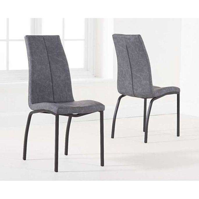 Mark Harris Nadia Antique Grey Dining Chair (Pair)