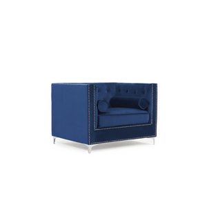 Furnish Our Home:Mark Harris New England Armchair Blue Velvet
